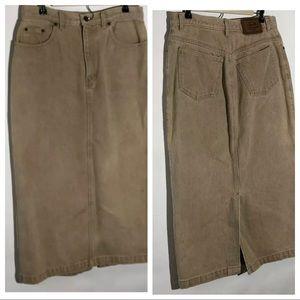 Vintage Calvin Klein Long Denim Skirt
